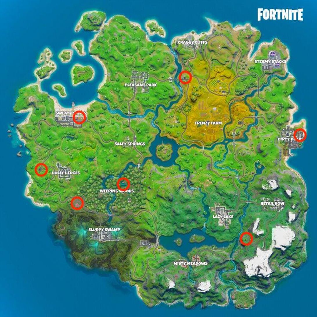 Ice Box locations for Fortnite Winterfest challenges