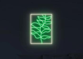Leaf neon sign